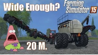 getlinkyoutube.com-The Widest Sowing Machine! Farming SImulator 2015 Gameplay Bourgault IAD600