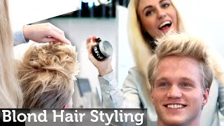 getlinkyoutube.com-Men's Blond Hair Inspiration | Medium Short Length | Messy Look | Legendary Hairstyle by Slikhaar TV