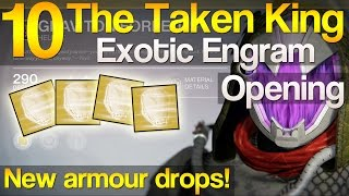 10 TTK Exotic Engram Opening - New armour drops!