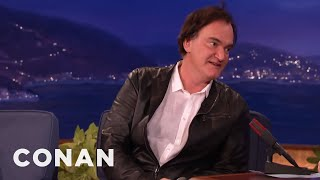getlinkyoutube.com-Quentin Tarantino Punishes Napping Actors With A Big Purple Dildo  - CONAN on TBS