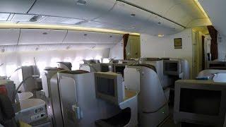 getlinkyoutube.com-Flight Report | Garuda Indonesia Boeing 777 Executive Class Amsterdam to London Gatwick