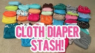 getlinkyoutube.com-Our Complete Cloth Diaper Stash Showing Each Diaper in Detail | Cloth Diaper Haul (Many Brands)