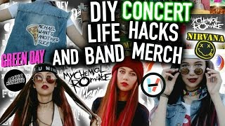 getlinkyoutube.com-DIY Band Merch and Concert Life Hacks : T-shirts, Clothes, Makeup and more Projects!