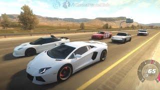 getlinkyoutube.com-Forza Horizon | Highway Battles | Twin Turbo Aventador, Turbo C6 ZR1, CTR Yellowbird, Evo X & More