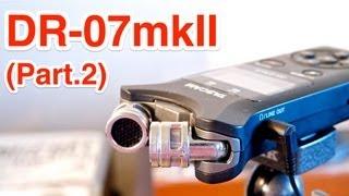 getlinkyoutube.com-TASCAM DR-07MKII (Part.2) ~ビデオカメラの外部マイクとして使う! (設置・接続編)