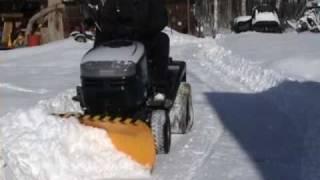 getlinkyoutube.com-Lawn mower snow plow