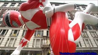 getlinkyoutube.com-Mighty Morphin Red Ranger 2 - Macy's Thanksgiving Day Parade 2016