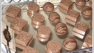 getlinkyoutube.com-شهيوات ريحانة كمال حلوى لذيذة و راقية بدون فرن ، شوكولا باللوز
