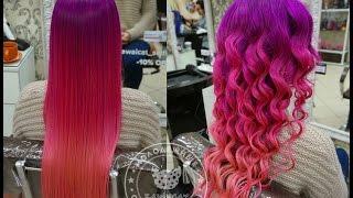 getlinkyoutube.com-Как покрасить волосы в розовый, лавандовый,  фиолетовый цвет красителем Антоцианин