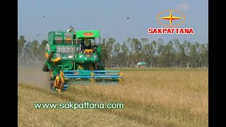 getlinkyoutube.com-รถเกี่ยวข้าวศักดิ์พัฒนา KM-D / World's Combine harvester KM-D
