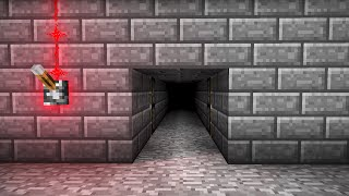 HIDDEN PISTON DOOR! - Minecraft Tutorial (Simple, Fast & Easy!)