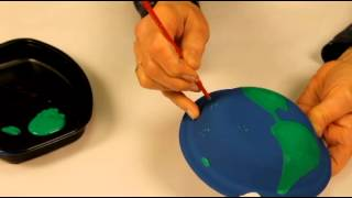 getlinkyoutube.com-How to make a Globe with paper plates