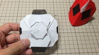 getlinkyoutube.com-おりがみ「オレゴーストアイコン」のつくりかた 仮面ライダーゴースト How to make Origami Hero Maskkamen rider ghost