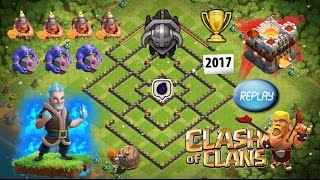 getlinkyoutube.com-Clash Of Clans - Townhall 11 Hybrid Dark Elixir Base With Replays - 300 Walls