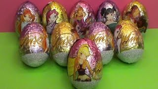 getlinkyoutube.com-Winx Club surprise unboxing surprise eggs toys Huevos sorpresa juguetes आश्चर्य अंडे खिलौने