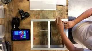 getlinkyoutube.com-How to make diy photo booth kiosk from aluminum channel and tube