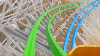 getlinkyoutube.com-Twisted Colossus (On-Ride Front) Six Flags Magic Mountain