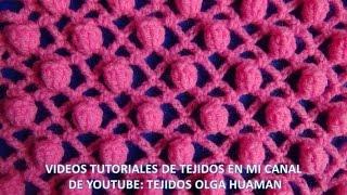 getlinkyoutube.com-punto popcorn tejido a crochet para polo