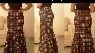 getlinkyoutube.com-How to Sew a 6pieces skirt without a pattern