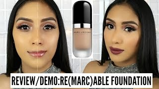 getlinkyoutube.com-Review/First Impressions: MARC JACOBS Re(marc)able Full Cover Foundation Concentrate