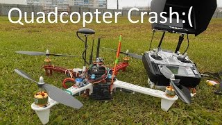 getlinkyoutube.com-F450  RC Crash APM 2.6 and DroidPlanner #2