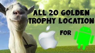 getlinkyoutube.com-Goat Simulator: All 20 Golden trophies Location iOS - Android | HD
