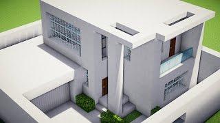 getlinkyoutube.com-•Minecraft Tutorial - Pequena Casa Moderna•