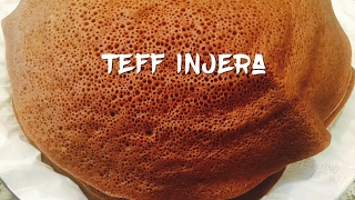 How to Make Taff Injera in the USA