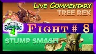 getlinkyoutube.com-Skylanders Swap Force Battle Mode PVP Tournament Gameplay Tree Rex Vs Stump Smash F# 8