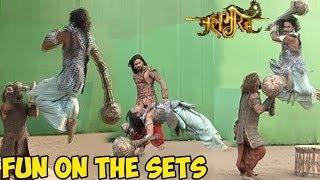 getlinkyoutube.com-Mahabharat : OMG! Mahabharat's UNSEEN Fun On the Sets LEAKED
