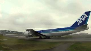 getlinkyoutube.com-ANA ジャンボ機 ボーイング747 ラストフライト 福岡空港 感動の交信 管制