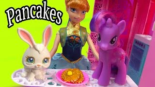 Breakfast Fluffy Pancakes Clay DIY Fun Craft for Disney Frozen Barbie Dolls LPS My Little Pony