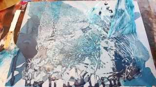 getlinkyoutube.com-Poured Acrylic Painting Ice Ice Baby