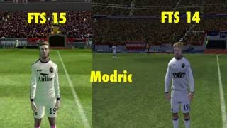 getlinkyoutube.com-FTS 14 VS FTS 15 - Faces comparisons - Real Madrid