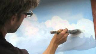 getlinkyoutube.com-How to paint clouds technique - Mural Joe