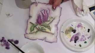 getlinkyoutube.com-Decoupage krok po kroku - cieniowanie akrylami - kolor