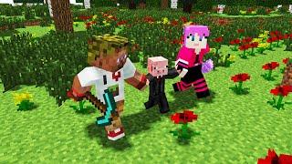 getlinkyoutube.com-Диллерон и Миникотик. Свин и Лаки блоки. Minecraft Мультики (Lucky Block)