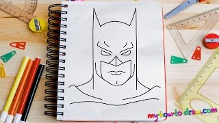 getlinkyoutube.com-How to draw Batman - Easy step-by-step drawing lessons for kids