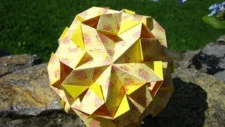 getlinkyoutube.com-Origami ☀ Gekkin ☀ Kusudama Variation