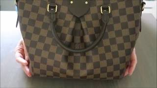 getlinkyoutube.com-Louis Vuitton Siena PM Damier Ebene | Review | Red Ruby Creates