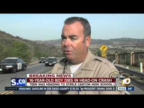 Teen Dead In Steele Canyon Crash - Mar 20, 2014