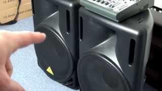 getlinkyoutube.com-Behringer B215D, B215D Active Speaker & Behringer 1204FX  Mixer