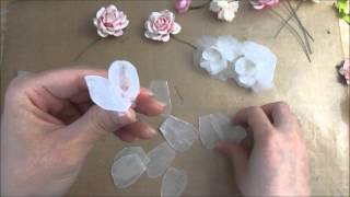 3 Lovely Flower's Tutorial using Melted Candle wax and Crepe Paper Streamers