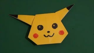 "getlinkyoutube.com-""Pikachu"" which can be made with a child子供と作れる「ピカチュウ」折り紙"