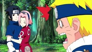 getlinkyoutube.com-Sasuke's Funny Fights and Epic Battle with Naruto - Uchiha Sasuke's Problem AMV