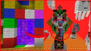 getlinkyoutube.com-Como ir a la Dimension Del Payaso | Minecraft PE 0.16.0