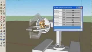 getlinkyoutube.com-Sketchup 8 e Sketchyphysics - braço robótico (1) - em português BR