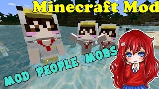 getlinkyoutube.com-Minecraft Mod รีวิว Mod People Mobs เล่นไป ฟินไป