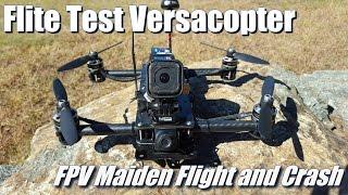 getlinkyoutube.com-Flite Test Versacopter - Maiden Flights and Crash