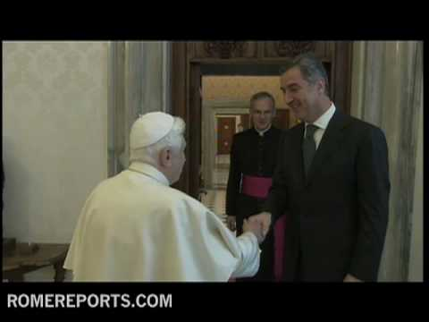 Pope receives prime minister of Montenegro  Milo Djukanovic